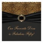 Leopard Diva Womans Fabulous 50th Birthday Party Custom Invite