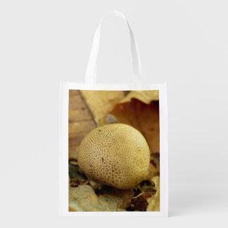 Leopard Earthball Fungus Reusable Bag