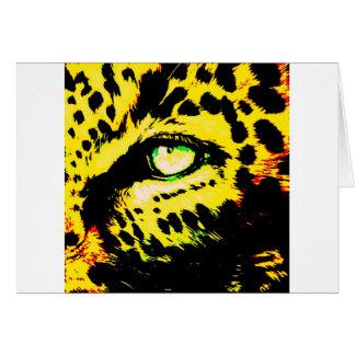 Leopard Eye Greeting Card
