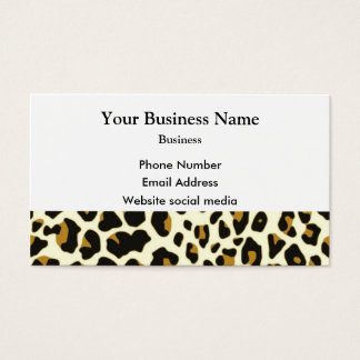 Leopard fashion print pattern business card