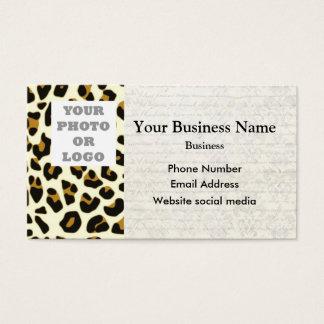 Leopard fashion print pattern photo template business card