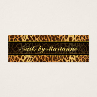 Leopard Faux Animal Print Mini Business Card