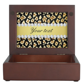 Leopard Faux Gold Glitter and Foil Black Memory Boxes