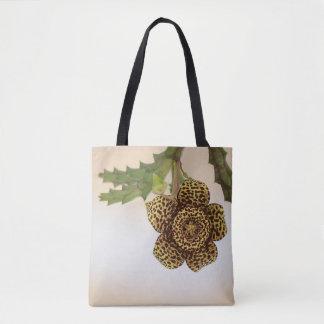 leopard flower tote bag
