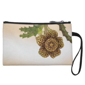 leopard flower wristlet clutches