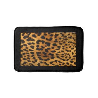 Leopard Fur Look Bath Mat