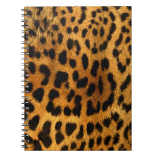 Leopard fur notebook