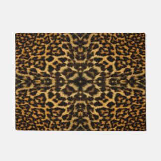 Leopard fur pattern doormat