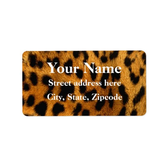 Leopard Fur Print Address Label
