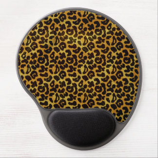 Leopard Fur Print Animal Pattern Gel Mouse Pad