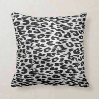 Leopard fur skin cushion