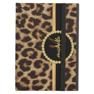 Leopard Gold Bling Monogram