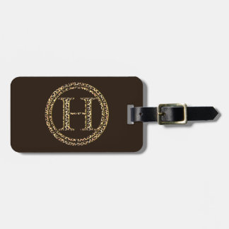 Leopard H Bag Tag