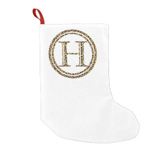 Leopard H Small Christmas Stocking