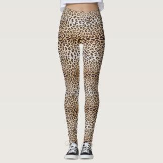 Leopard hair leggings