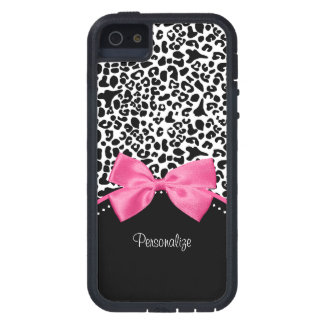 Leopard Hot Pink Bow iPhone 5 Case