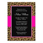 Leopard Hot Pink Bridal Shower Invitations