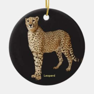 Leopard image for Circle Ornament