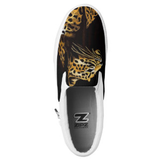 Leopard in the darkness slip on shoes