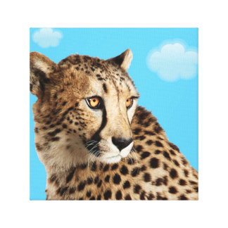 Leopard In Waiting. Canvas Print