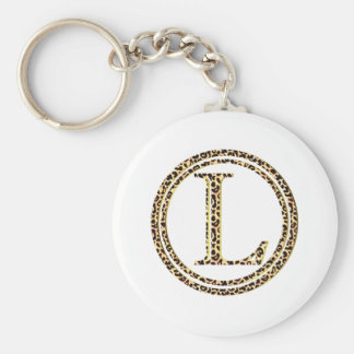 leopard L Key Ring