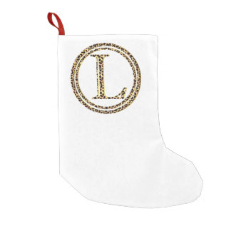 leopard L Small Christmas Stocking
