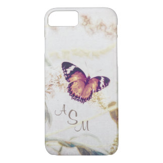 Leopard Lacewing Butterfly Edited Shabby and Chic iPhone 8/7 Case