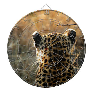 Leopard Looking Off Into Distance Dartboard