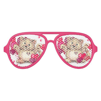 LEOPARD LOVE Adult Aviator Party Shades