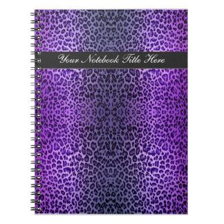 Leopard Lovers Wild Purple Personal Notebook