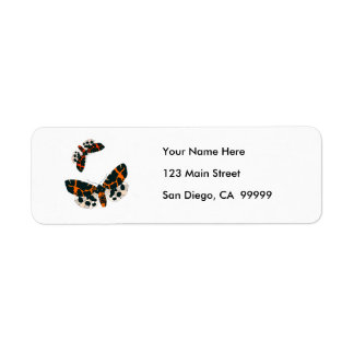 Leopard Moths in Flight Formation Return Address Label