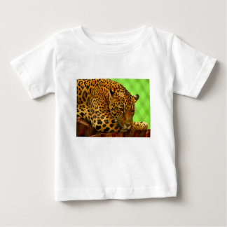 Leopard on Brown Log Baby T-Shirt