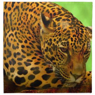 Leopard on Brown Log Napkin