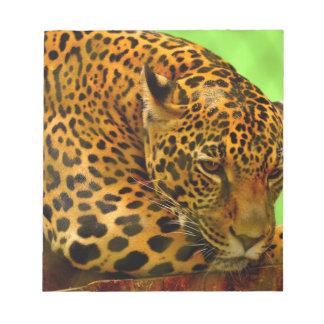 Leopard on Brown Log Notepad