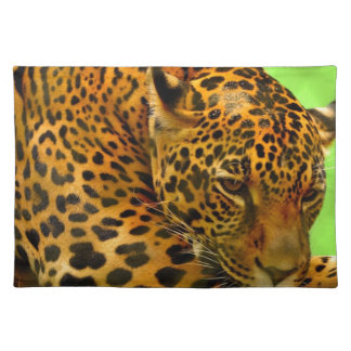 Leopard on Brown Log Placemat