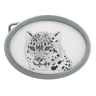 Leopard Oval Belt Buckles