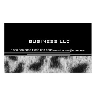 Leopard Pack Of Standard Business Cards