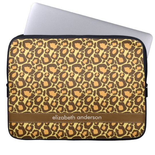 Leopard Pattern Custom Laptop Sleeve