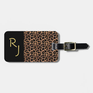 Leopard Pattern Custom Monogrammed Luggage Tag