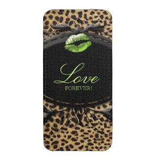 Leopard Pattern Modern Samsung Pouch Case Love