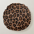 Leopard Pattern Round Cushion