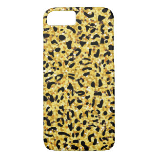 leopard pattern texture black and gold iPhone 8/7 case