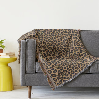 Leopard Pattern Throw Blanket