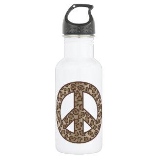 Leopard Peace Symbol 532 Ml Water Bottle