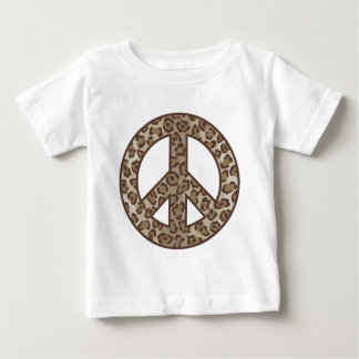 Leopard Peace Symbol Baby T-Shirt