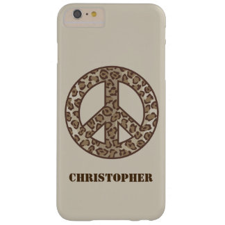 Leopard Peace Symbol Barely There iPhone 6 Plus Case