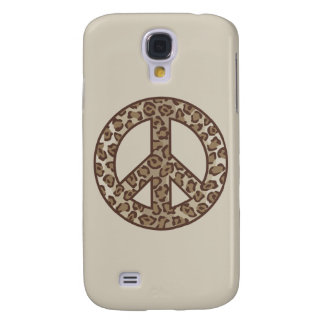 Leopard Peace Symbol Galaxy S4 Covers