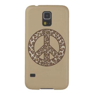 Leopard Peace Symbol Galaxy S5 Cover