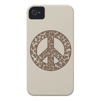 Leopard Peace Symbol iPhone 4 Covers