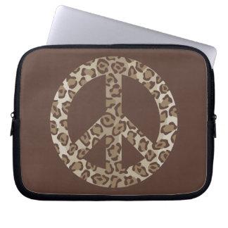 Leopard Peace Symbol Laptop Sleeve
